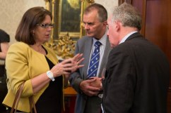 Caroline Blackman, John Appleton, Len Conway